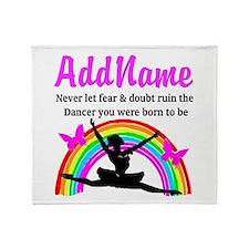 INSPIRING DANCER Throw Blanket