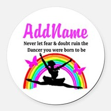 INSPIRING DANCER Round Car Magnet