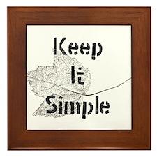 Keep It Simple Framed Tile