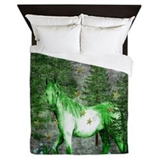 Year Of The Green Horse Queen Duvet