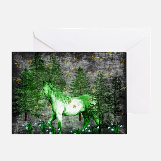 Year Of The Green Horse Greeting Card