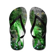 Year Of The Green Horse Flip Flops