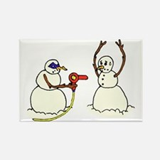 Snowman Bandit Robbing Brethren w Rectangle Magnet