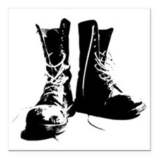 "Goth Boots Square Car Magnet 3"" x 3"""