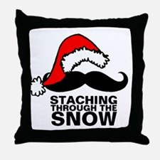 Staching Through the Snow Throw Pillow