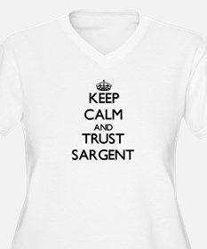 Keep calm and Trust Sargent Plus Size T-Shirt