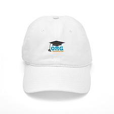 OMG I graduated! with mortar Board hat Baseball Cap