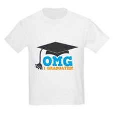 OMG I graduated! with mortar Board hat T-Shirt