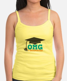 OMG I graduated! with mortar Board hat Tank Top