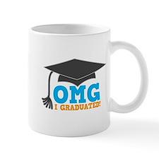 OMG I graduated! with mortar Board hat Mugs