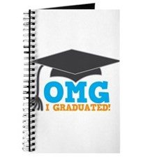 OMG I graduated! with mortar Board hat Journal