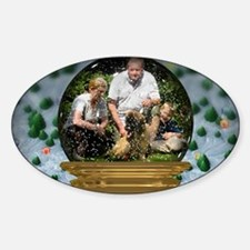 Personalizable Snowglobe Photo Frame Decal