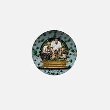 Personalizable Snowglobe Photo Frame Mini Button