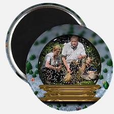 Personalizable Snowglobe Photo Frame Magnet