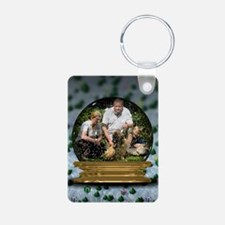 Personalizable Snowglobe Photo Frame Keychains
