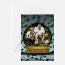 Personalizable Snowglobe Photo Frame Greeting Card