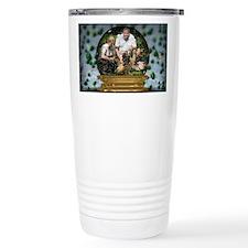 Personalizable Snowglobe Photo Frame Travel Mug