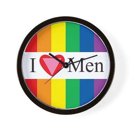 I LOVE MEN (HEART) Wall Clock