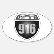 Interstate 916 (Sacramento) Oval Decal