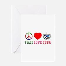 Peace Love Cuba Greeting Card