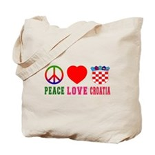 Peace Love Croatia Tote Bag