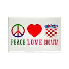 Peace Love Croatia Rectangle Magnet (10 pack)