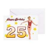 25 birthday card girl Greeting Cards