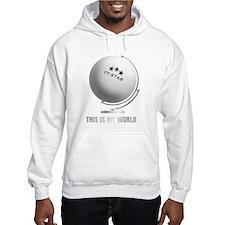 planet table tennis world globe Hoodie
