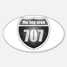 Interstate 707 (Bay Area) Oval Decal