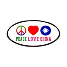 Peace Love China Patches