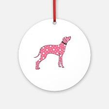 Pink Dalmatian Ornament (Round)
