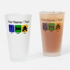 Custom Eat Sleep Save Drinking Glass