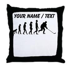 Custom Hockey Evolution Throw Pillow
