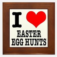 I Heart (Love) Easter Egg Hunts Framed Tile