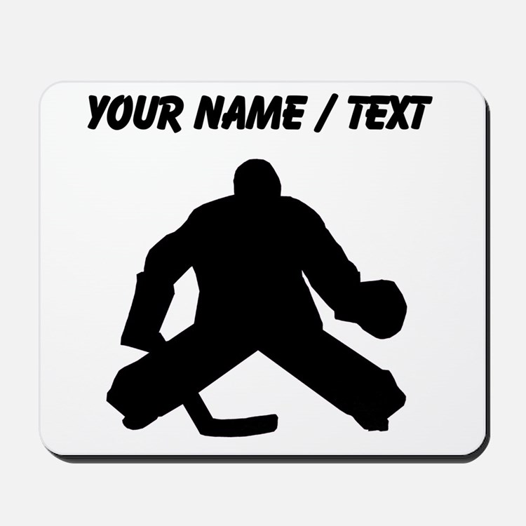 Custom Hockey Goalie Silhouette Mousepad