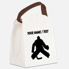 Custom Hockey Goalie Silhouette Canvas Lunch Bag