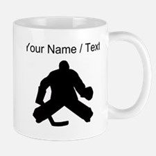 Custom Hockey Goalie Silhouette Mugs