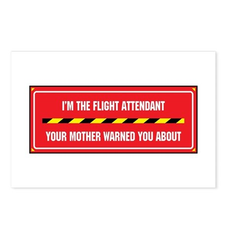 I'm the Flight Attendant Postcards (Package of 8)