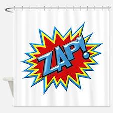 Comic Book Burst Zap! 3D Shower Curtain