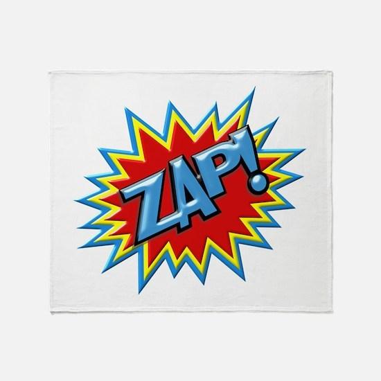 Comic Book Burst Zap! 3D Throw Blanket