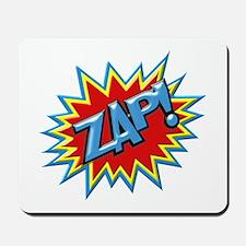 Comic Book Burst Zap! 3D Mousepad