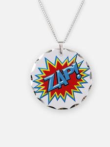 Comic Book Burst Zap! 3D Necklace