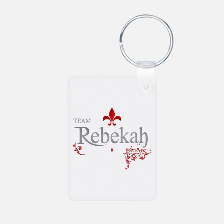 TVD Team REBEKAH silver red Keychains