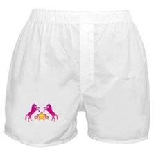 Two Rearing Ponies Boxer Shorts
