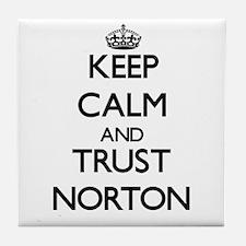 Keep calm and Trust Norton Tile Coaster