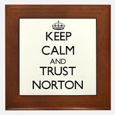Keep calm and Trust Norton Framed Tile