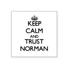 Keep calm and Trust Norman Sticker