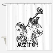Jazz it up-black Shower Curtain