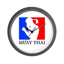 Cute Muay thai Wall Clock