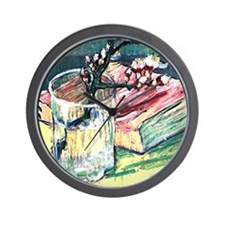 Van Gogh - Blossoming Almond Branch in  Wall Clock